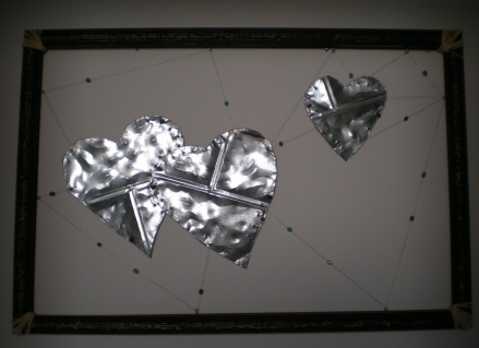 Large Suspended Hearts
