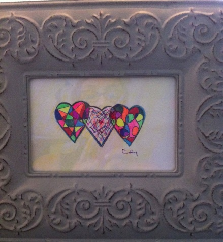Neon Hearts with Pen